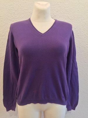 Burberry V-Neck Sweater dark violet