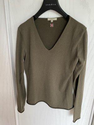 Burberry Pullover in cashmere grigio-verde