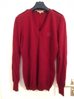 Burberry V-Neck Sweater dark red
