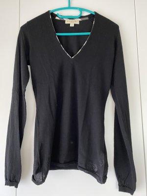 Burberry Cienki sweter z dzianiny czarny