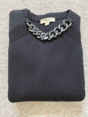 Burberry Pullover Gr. S schwarz mit Kette