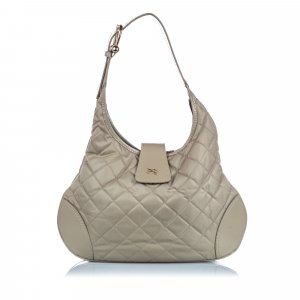 Burberry Bolsa Hobo verde Nailon