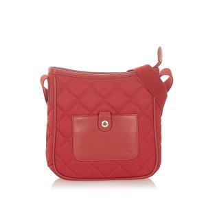 Burberry Sac porté épaule rouge nylon