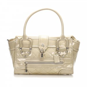 Burberry Quilted Patent Leather Handbag