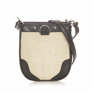 Burberry Raffia Crossbody Bag