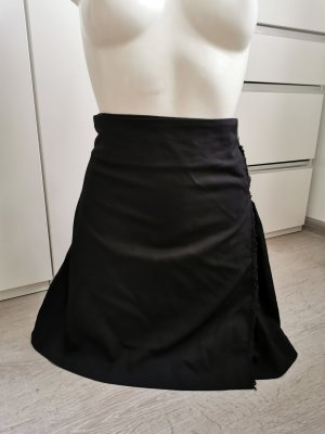 Burberry Lniana spódnica czarny Len