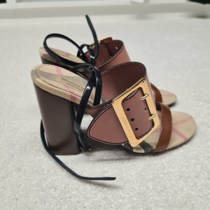 Burberry Strapped Sandals rose-gold-coloured-brown leather
