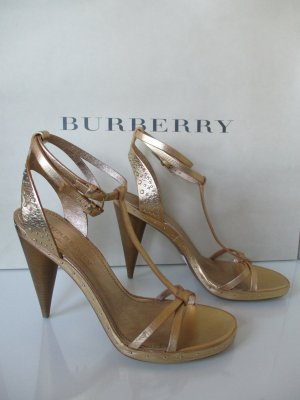 Burberry High Heel Sandal gold-colored leather