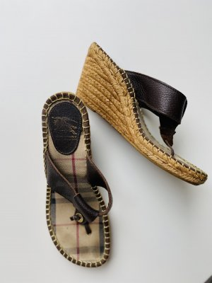 Burberry Wedge Sandals light brown-brown