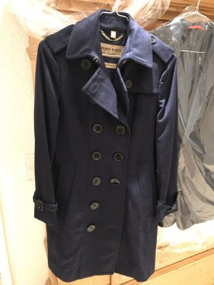 Burberry Wool Coat dark blue