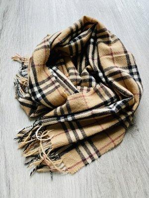 Burberry Sjaal met franjes veelkleurig Kasjmier