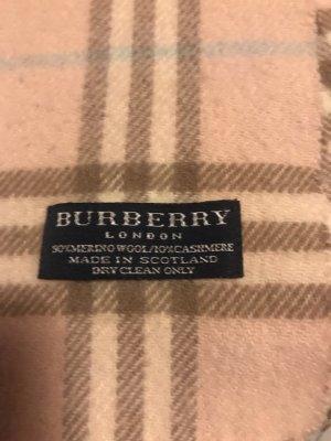 Burberry Écharpe en laine vieux rose