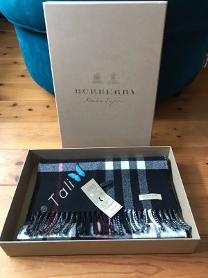 Burberry Fringed Scarf multicolored merino wool