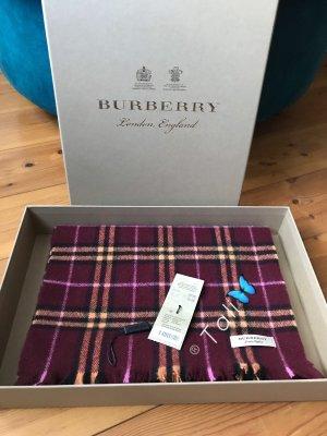 Burberry Cashmere Scarf bordeaux-carmine cashmere