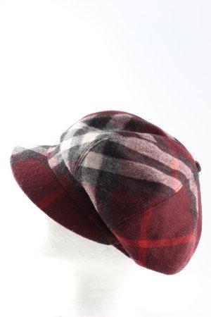 Burberry Gorra de plato estampado a cuadros look casual