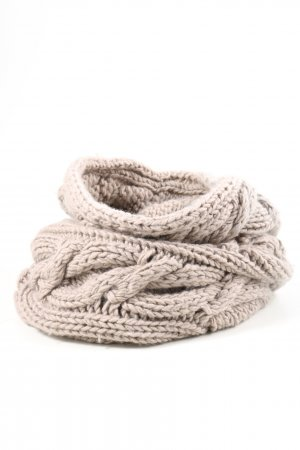 Burberry Tube Scarf natural white cable stitch casual look