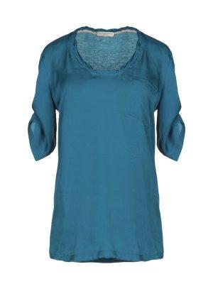 Burberry Zijden blouse staalblauw-korenblauw