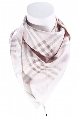 Burberry Silk Scarf check pattern Brit look