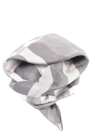 Burberry Panno di seta grigio chiaro-bianco motivo a quadri stile professionale