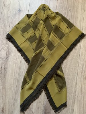 Burberry Zijden doek oker-limoen geel