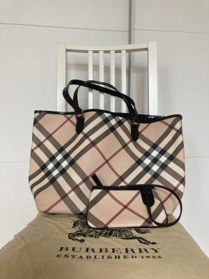 Burberry Shopper Supernova Check Large Tote Bag