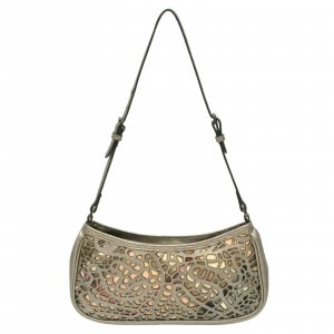 Burberry Shoulder Bag silver-colored leather