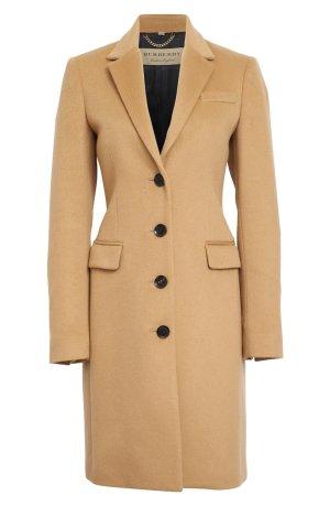 Burberry London Cappotto in lana color cammello Cachemire
