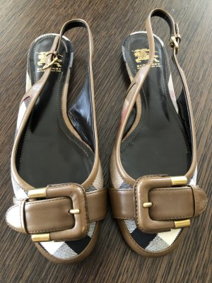 Burberry Slingback Ballerinas multicolored leather