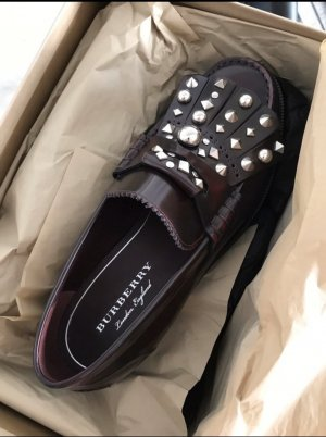 Burberry Moccasins brown red-silver-colored