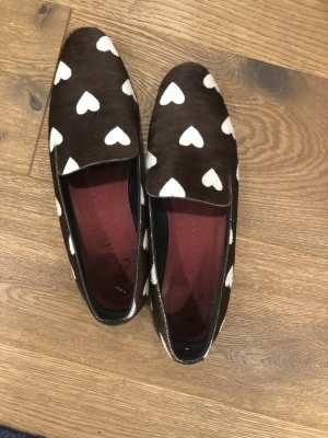 Burberry Mocassins donkerbruin-wolwit