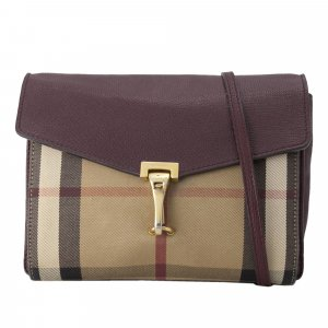 Burberry Small House Check Macken Leather Crossbody Bag
