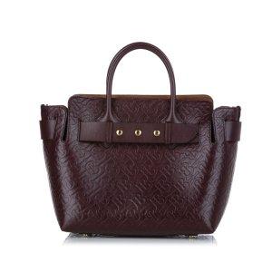Burberry Satchel bordeaux leather