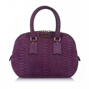 Burberry Sacoche violet reptiles