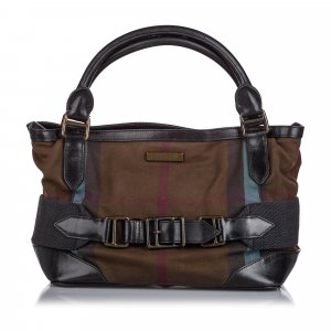 Burberry Smoke Check Canvas Handbag