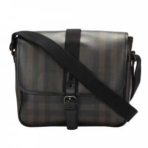 Burberry Smoke Check Coated Canvas Crossbody Bag