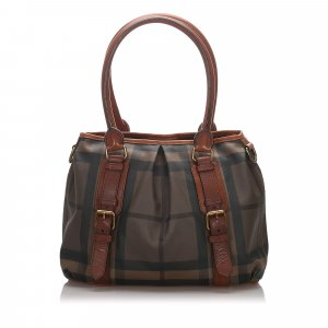 Burberry Smoke Check Northfield Tote Bag