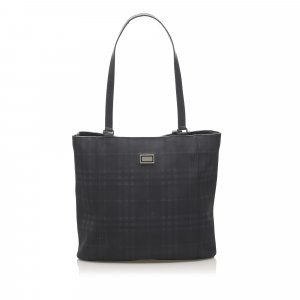 Burberry Smoke Check PVC Shoulder Bag