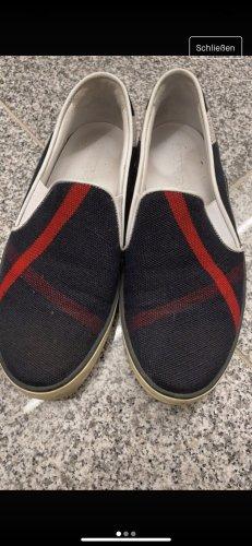 Burberry Slip-on Sneakers dark blue-red