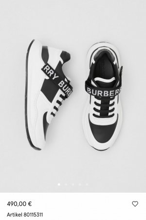Burberry Lace-Up Sneaker black-white