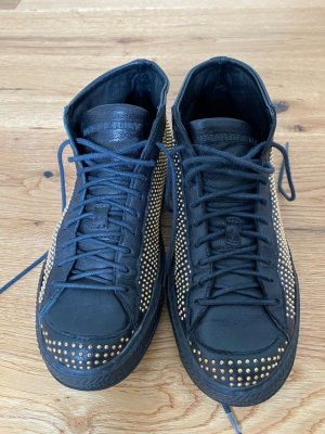 Burberry High Top Sneaker black-gold-colored