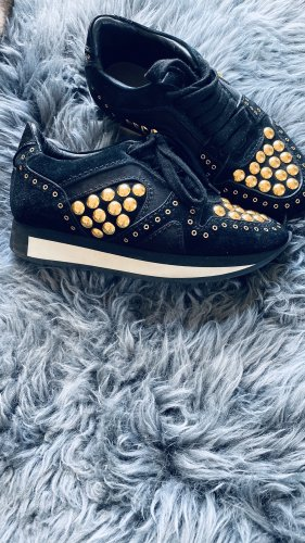 Burberry Lace-Up Sneaker black-gold-colored