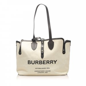 Burberry Soft Belt Canvas Tote Bag