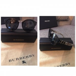 Burberry Oval Sunglasses black