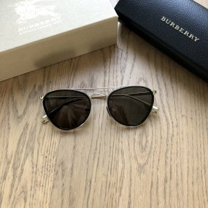 ❤️ Burberry Sonnenbrille Gold Schwarz Pilotenbrille ❤️