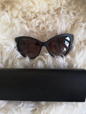 Burberry Ovale zonnebril zwart-goud