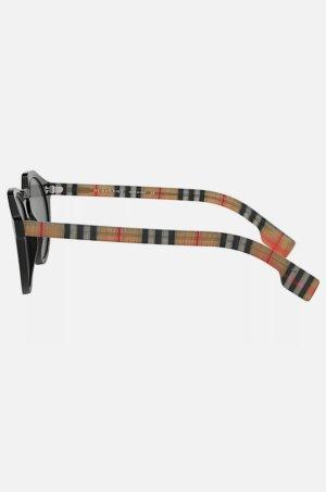 Burberry Okrągłe okulary przeciwsłoneczne czarny