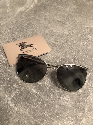 Burberry Oval Sunglasses silver-colored