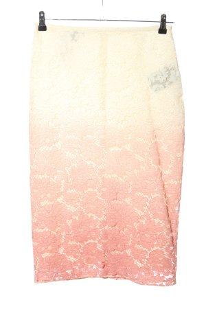 Burberry Falda de encaje rosa-crema degradado de color look casual