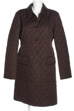 Burberry Quilted Jacket brown quilting pattern casual look