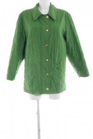 Burberry Quilted Jacket green quilting pattern casual look